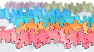 Zusammenhalt Team Gemeinschaft Puzzle