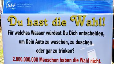 Wasser ist Menschenrecht: Die Stadtentwässerung Frankfurt/Main zum Weltwassertag 2017