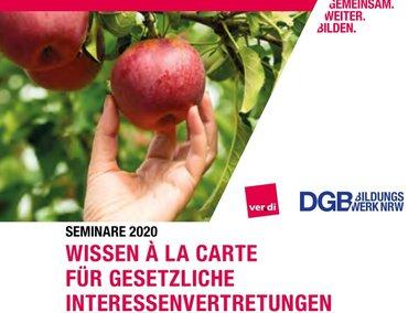 DGB Bildungswerk NRW Seminare 2020 Wissen á la carte Cover