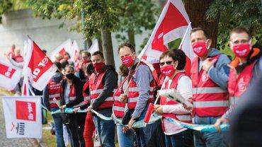 Tröd 2020 Verhandlung Auftakt Aktion Demo Potsdam 2020