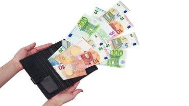 Geld Euro Geldscheine Geldbeutel